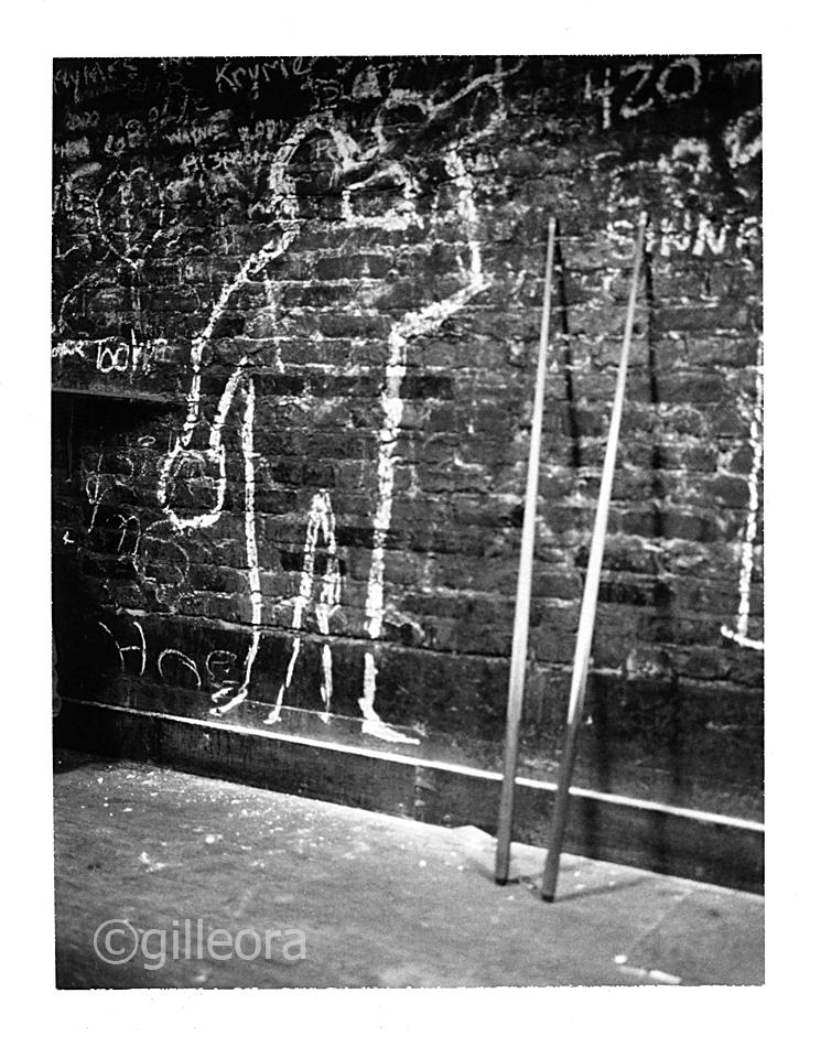 Pool chalk graffiti.