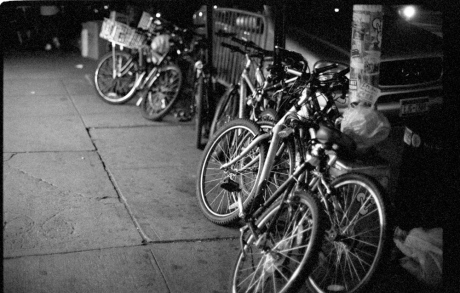 NY bikes at rest.