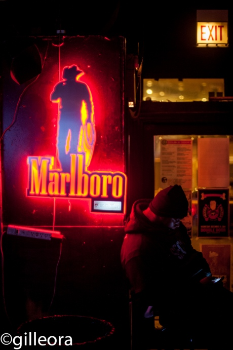 Marlboro Man and his phone.